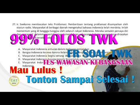 30 Soal Bocoran  FR  TWK (Tes Wawasan Kebangsaan) SKD CPNS 2020