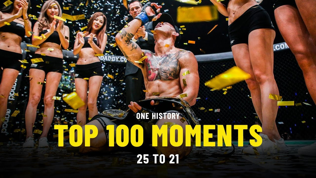 Top 100 Moments In ONE History | 25 To 21 | Ft. Martin Nguyen, Brandon Vera, Joshua Pacio & More