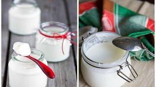 Делаем греческий йогурт дома.Как сделать йогурт.Дрожжи для йогурта.