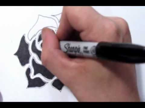 How To Create A Tribal Black Rose Tattoo Design Youtube