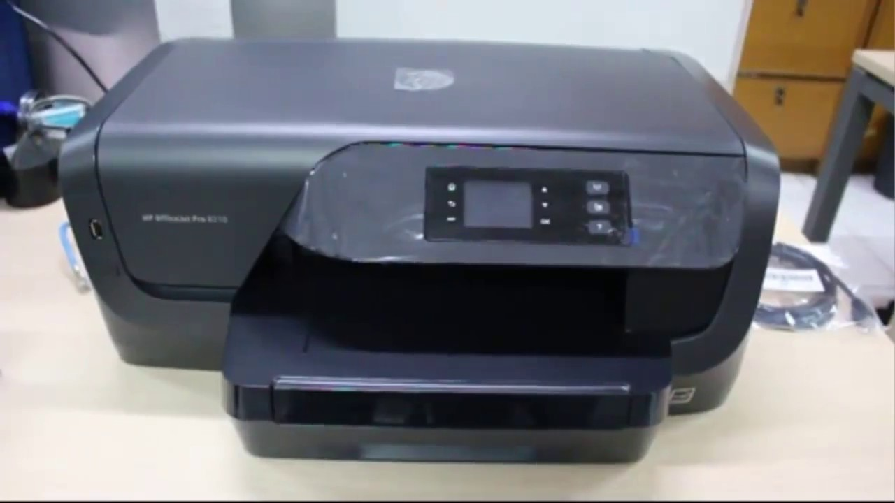 printer hp officejet pro 8210 first use youtube. Black Bedroom Furniture Sets. Home Design Ideas