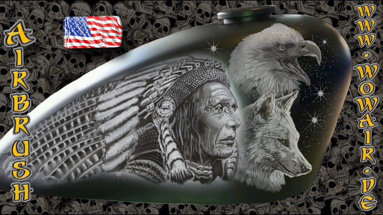 "Airbrush by Wow No.621 "" Indian Chief "" with english ..."