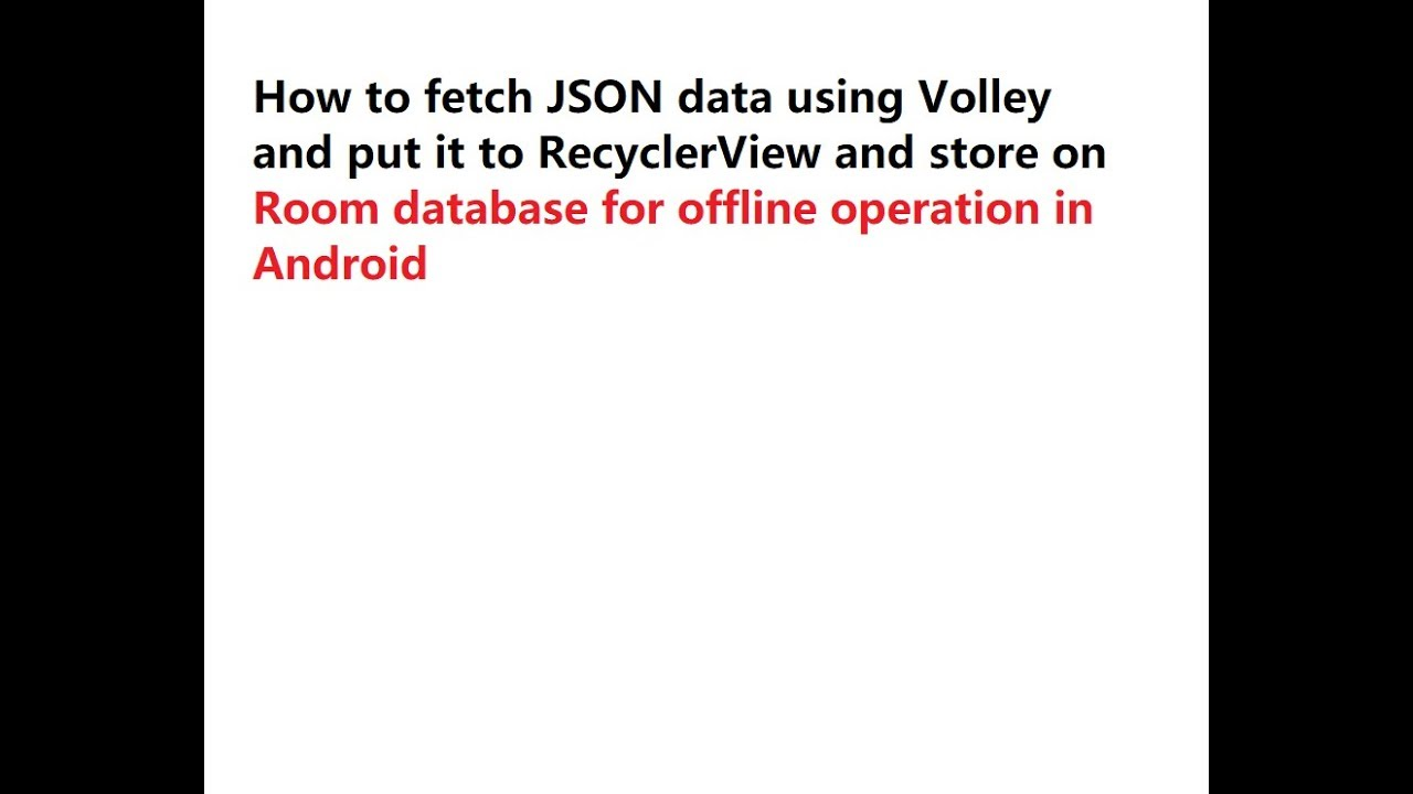 How to fetch JSON data using Volley and put it to