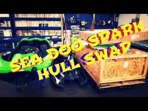 Sea Doo Spark hull swap no fiberglass :) Comes in 2 sections, great design