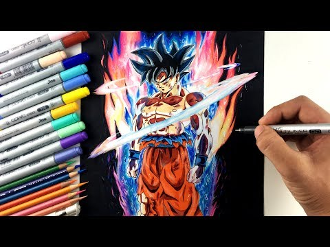 Drawing Goku NEW FORM Ultra Instinct | Limit Breaker