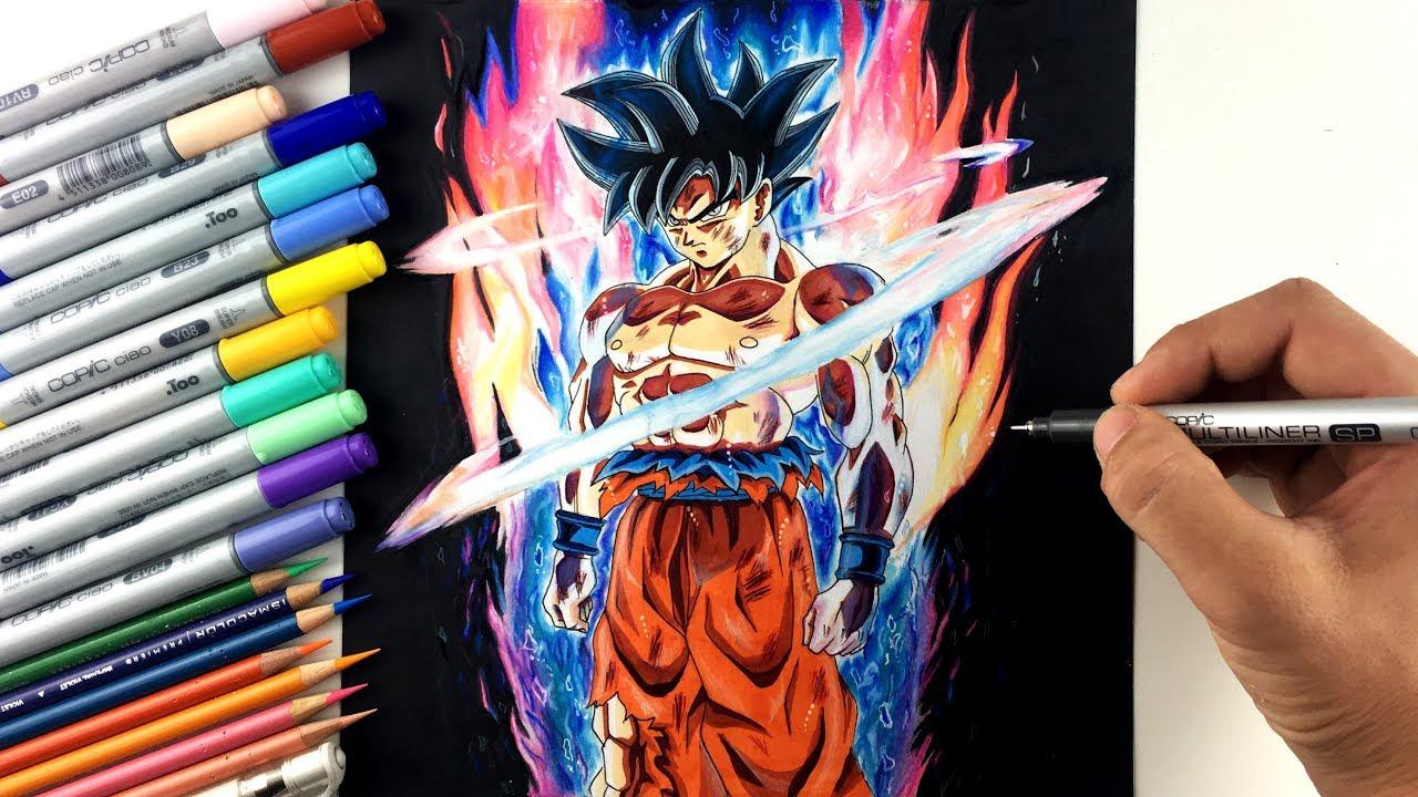 Drawing goku new form ultra instinct limit breaker youtube - Goku ultra instinct sketch ...