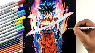 Drawing Goku NEW FORM Ultra Instinct | Limit Breaker