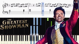 Download Lagu The Greatest Showman - This Is Me - Piano Tutorial + SHEETS Mp3