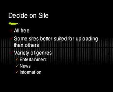 Free Video Hosting Sites