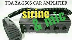 CAR AMPLIFIER / AMPLI TOA ZA-250S 25w AMPLI MOBIL+SIRINE