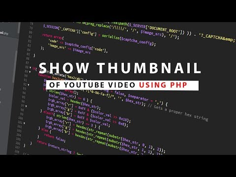 Get Thumbnail From Any YouTube Video | PHP