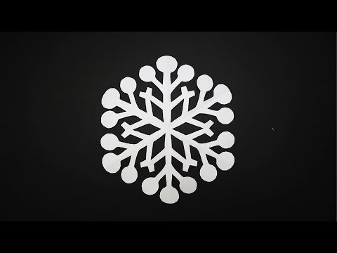 DIY Paper Snowflakes #2  | How to Make a Paper Snowflakes | Christmas Snowflake Decorations