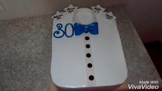 Торт рубашка. торт на 30летие, торт мужу