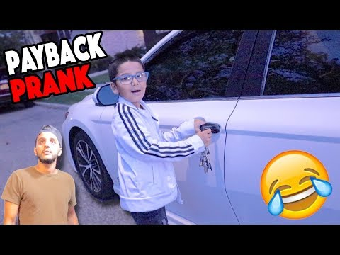 I Stole His Car And Little Brother!!! *PAYBACK PRANK*