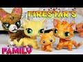 Firestar's Family! (Princess, Sandstorm, Leafkit and Squirrelkit)