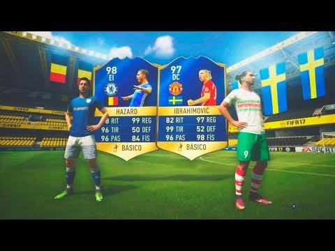 IBRAHIMOVIC Y HAZARD TOTS IN PACKS!!! | TOP SOBRES PREMIER LEAGUE TOTS | FIFA 17
