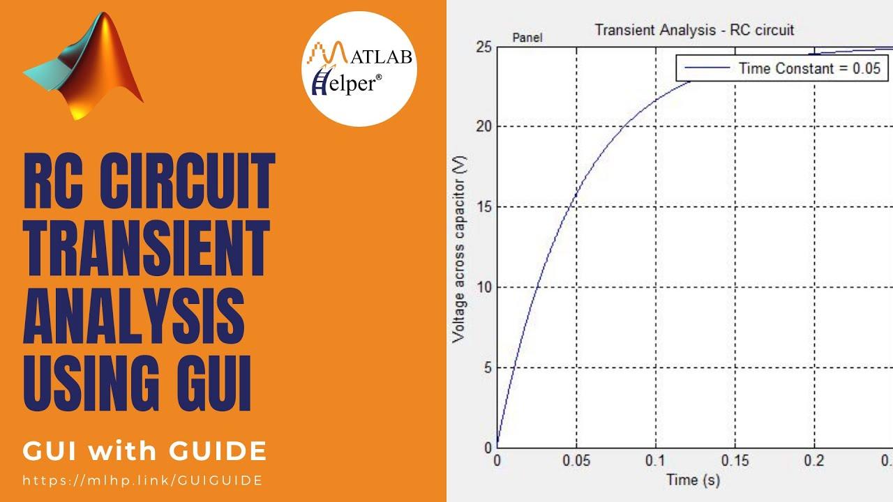 RC Circuit Transient Analysis Using GUI