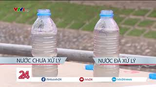 Nước sông Tô Lịch thay đổi như thế nào sau 6 ngày áp dụng công nghệ làm sạch Nano?