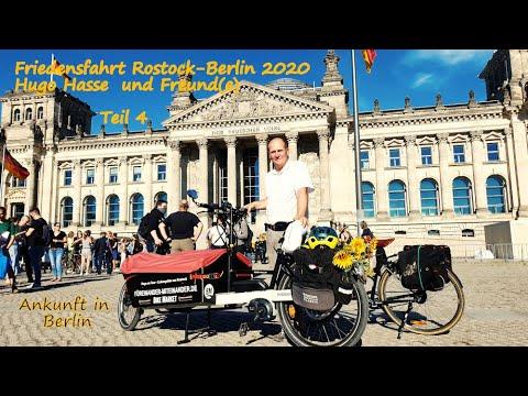 FRIEDENSFAHRT Rostock-Berlin (Teil 4), Hugo on Tour mit dem Rad, vierte Etappe, Ankunft in BERLIN