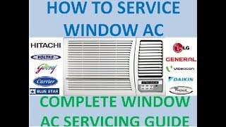 How to recharging of refrigerant in window AC | Window AC complete servicing step by step