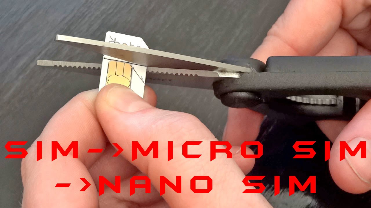 How To Cut A SIM Card Into Micro SIM And Nano SIM Card (Template Included)    YouTube