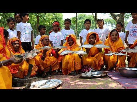 Celebration of Bangla New Year - Tasty Hilsa/Ilish Fry & Water Rice -  Traditional Bengali Food