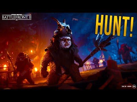 HUNT THOSE EWOKS!!  STAR WARS Battlefront 2  Endor Update!