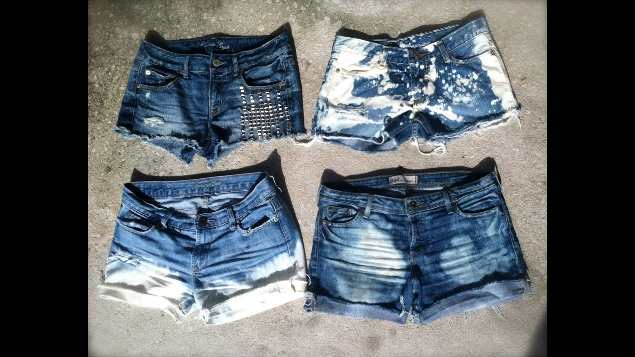 ♥ d. I. Y distressed jean shorts | super easy | youtube.