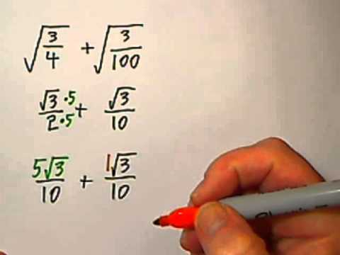 Hw 028 u4 83 adding fractions with radicals youtube hw 028 u4 83 adding fractions with radicals ccuart Gallery