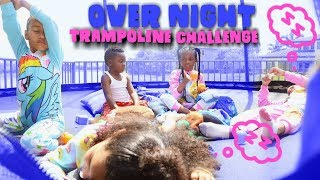 OVERNIGHT TRAMPOLINE CHALLENGE with PANTON KIDS