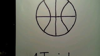 Learn How To Draw A Basketball Easy And Simple Player Hoop