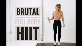20 Minute // FULL BODY HIIT Workout With Weights