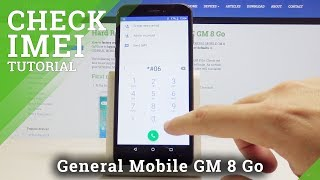 How to Check IMEI and Serial Number in GENERAL MOBILE GM 8 Go - Find IMEI & Serial Number