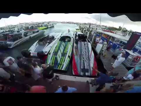 Time Lapse: Boats Arriving at Sponsor Dock Key West Poker Run 2017