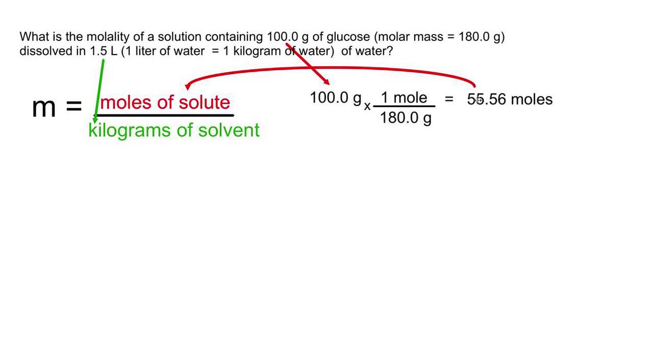 Molality convert mass to moles and liters to kilograms youtube - How to convert liter to kilogram ...