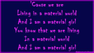 Madonna - Material Girl (Lyrics On Screen)