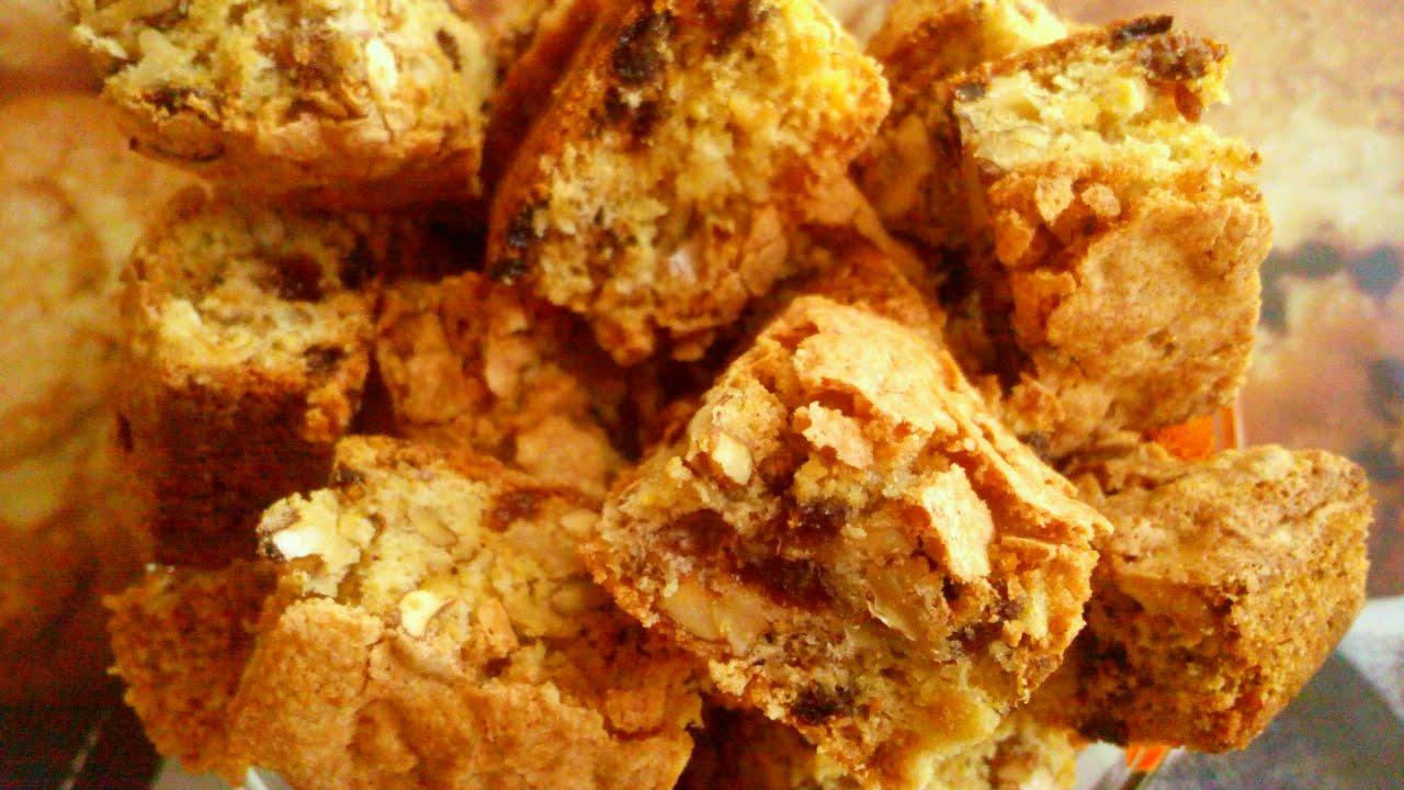 хрустящие печенье с орехами рецепт с фото