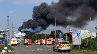 Schwere Explosion im CHEMPARK Leverkusen  Feuerwehren im Großeinsatz | 27.07.2021