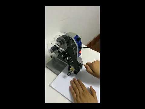 Manual Expiry Date/code Ribbon Printing Machine