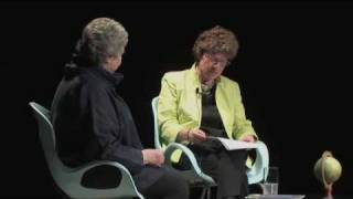 A.S. Byatt being interviewed in Toronto