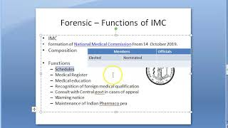 Forensic 037 a Functions of Indian Medical council MCI NMC