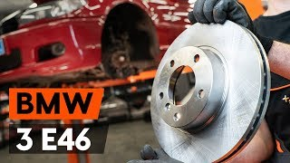 rear and front Brake disc kit change on BMW 3 Convertible (E46) - video instructions