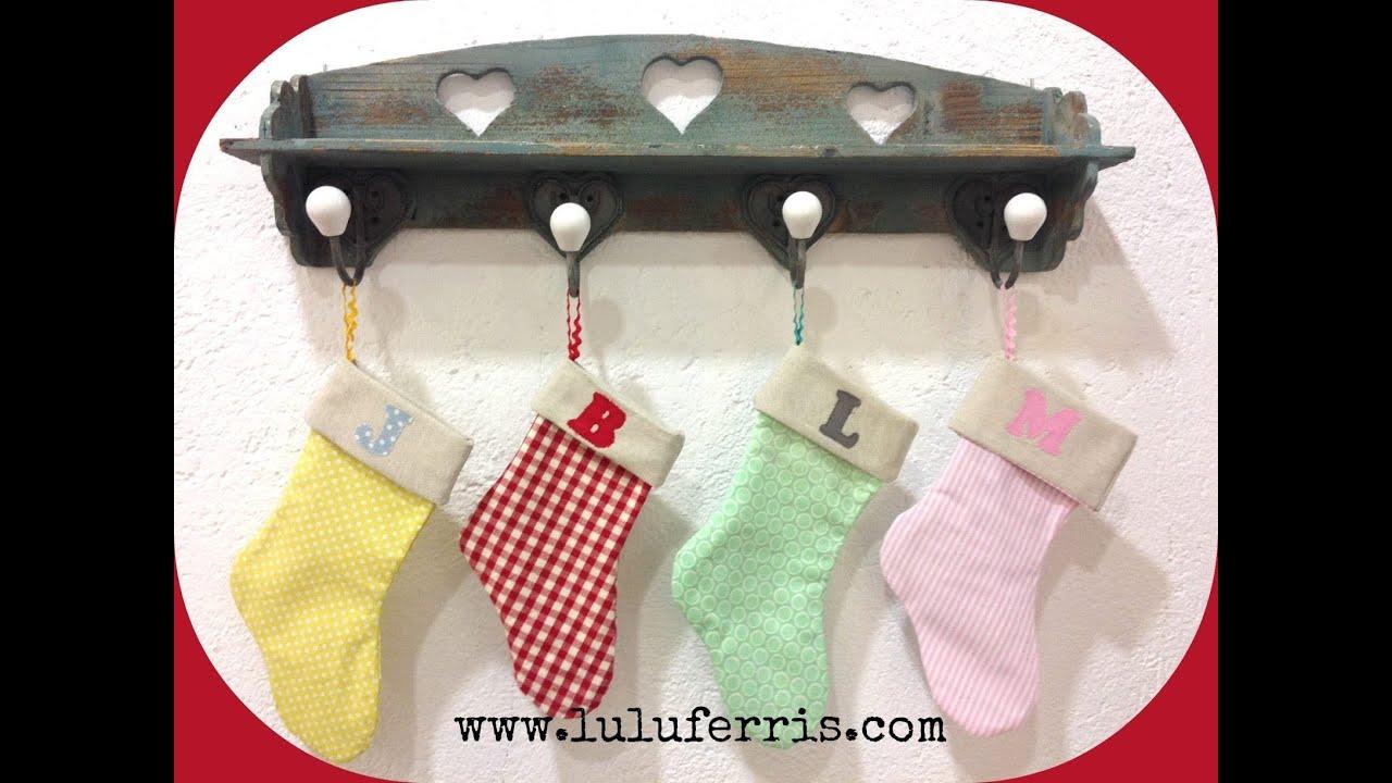 Tutorial 12 calcetines de navidad youtube - Calcetines de navidad personalizados ...