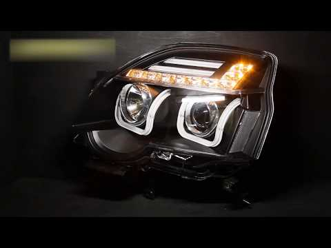 Тюнинг фары Ниссан Х Трейл Tuning headlights Nissan X Trail 12 U Type, черные H7 H1