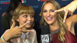 Grace vanderwaal beatboxes backstage! (so cute!)
