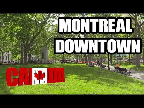 MONTREAL DOWNTOWN! LIFE IN THE CITY OF MONTREAL! SUMMER IN MONTREAL, CANADA! SAINTE-CATHERINE