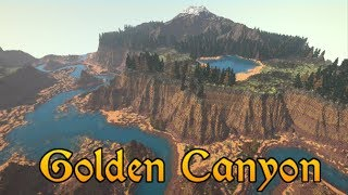 [60fps] World Painter Timelapse & Cinematic :: Golden Canyon