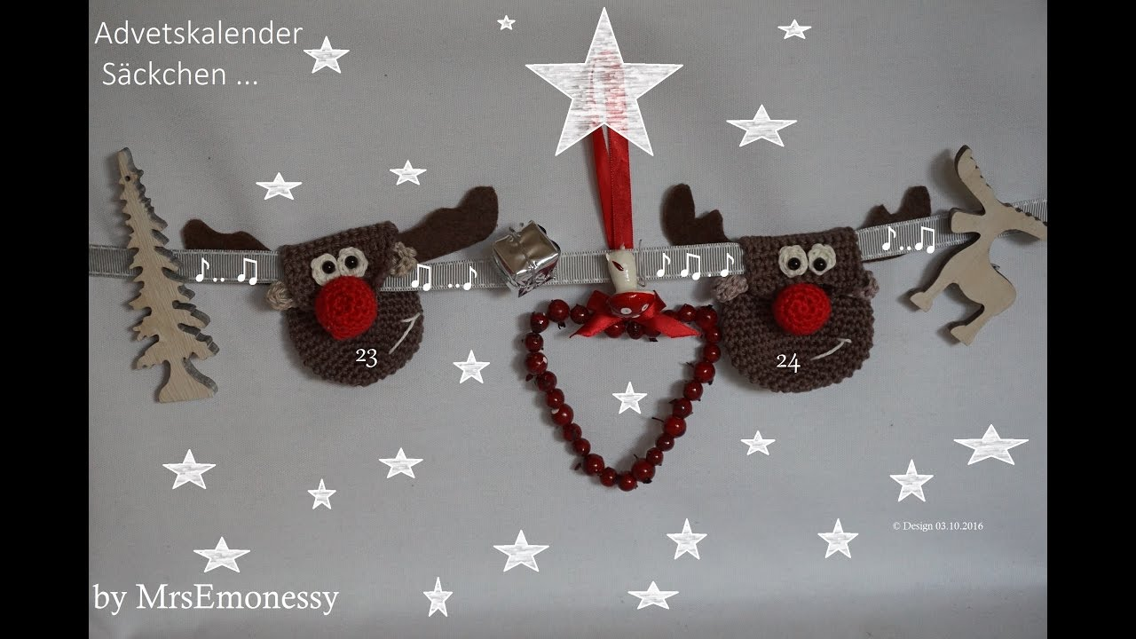 Adventskalender Diy Häkeln So Süß Rudolf The Red Nose