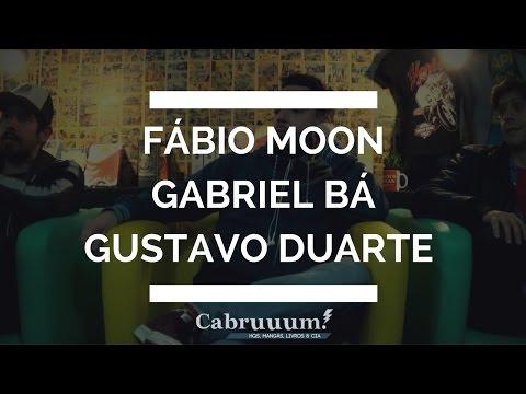 90 minutos com Fábio Moon, Gabriel Bá e Gustavo Duarte