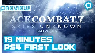 (GC18) ACE COMBAT 7 | 19 Minutes DIRECT FEED First Look | PS4